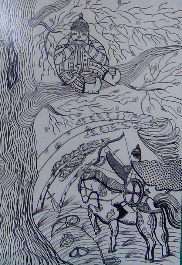 илья муромец и соловей разбойник иллюстрации к былине легкие вариант